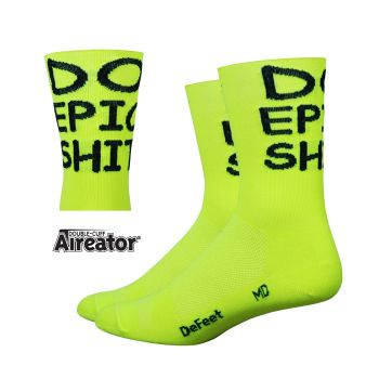 DeFeet Socken Aireator Doppel-Bund Do Epic Shit - Neon-Gelb
