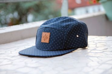SM-Parts 5-Panel Snapback Cap - Polka Dots