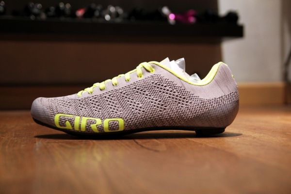 Giro Empire E70 Knit 18 - Grey Heather/Highlight Yellow